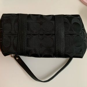 Black mini coach purse